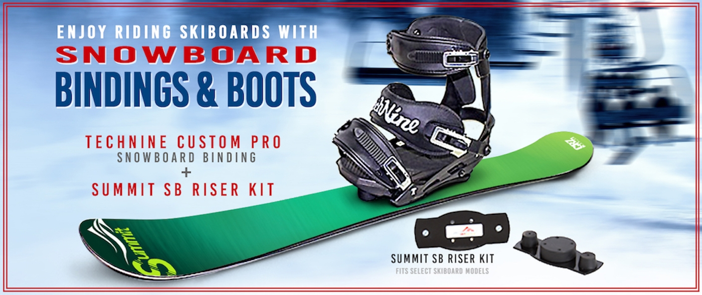 Summit Skiboards w. Snowboard Bindings