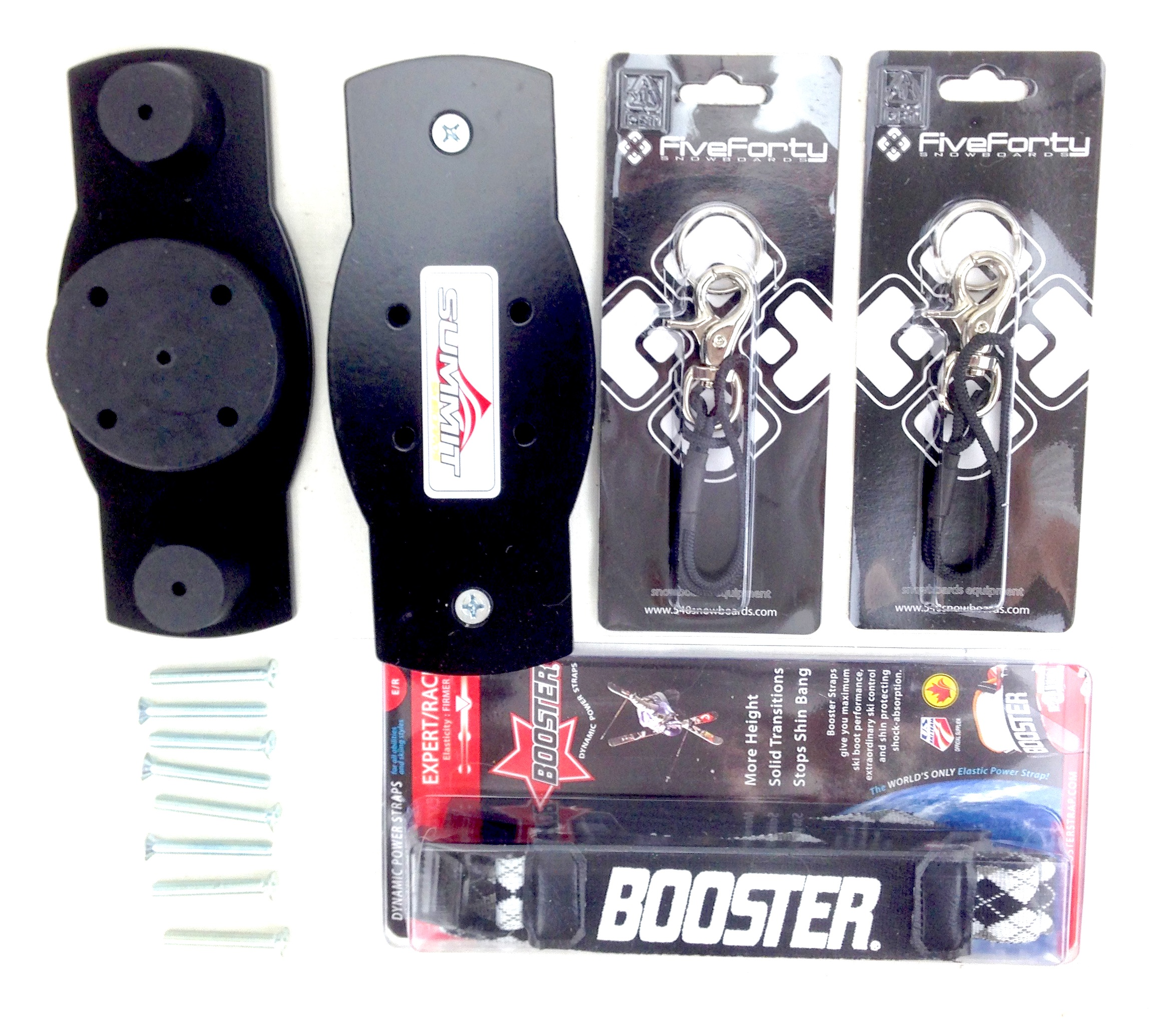 Skiboards.com Snowboard Binding Adaptor Kit for Skiboards