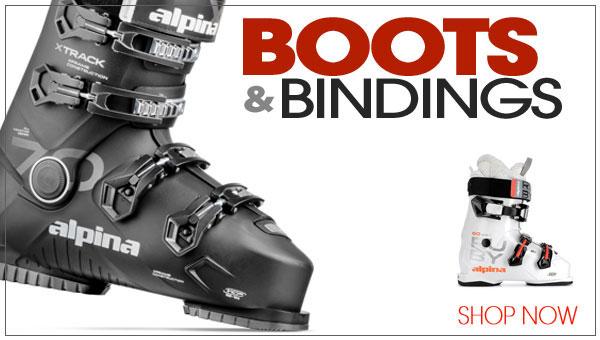 Skiboard boots and bindings