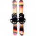 Summit Bamboo 110 cm High Performance Skiboards with Technine Snowboard Bindings